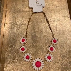 NWT Charming Charlie white and pink necklace